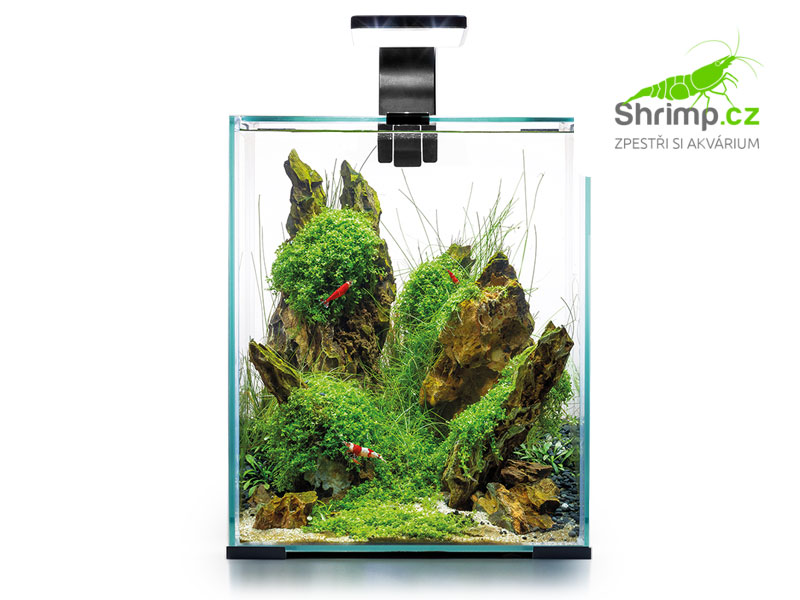 Akvarijní set AQUAEL SHRIMP Day & Night 10 černé (10 l)